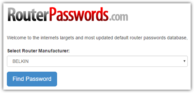 router-passwords